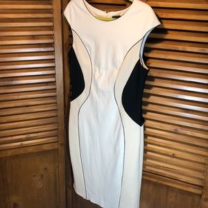 Ann Taylor Career Midi Bodycon Dress, SO Slimming!